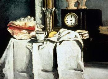 Reprodução do quadro  The Black Marble Clock, c.1870