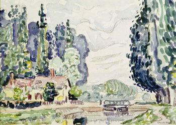 Reprodução do quadro  The Blue Poplars, 1903