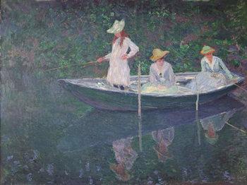 Reprodução do quadro  The Boat at Giverny, c.1887