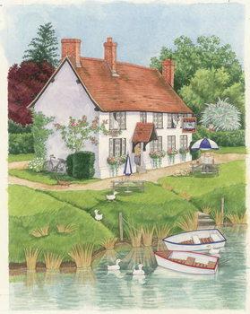 Reprodução do quadro  The Boat Inn, 2003