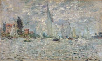 Reprodução do quadro  The Boats, or Regatta at Argenteuil, c.1874