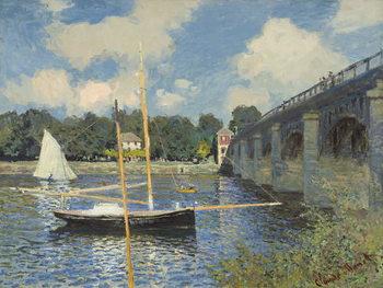 Reprodução do quadro  The Bridge at Argenteuil, 1874