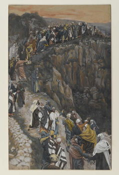 Reprodução do quadro The Brow of the Hill near Nazareth, illustration from 'The Life of Our Lord Jesus Christ'