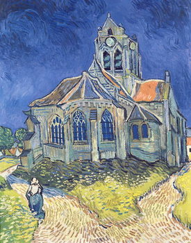 Reprodução do quadro  The Church at Auvers-sur-Oise, 1890