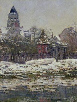 Reprodução do quadro  The Church at Vetheuil, 1879