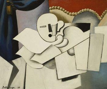 Reprodução do quadro The Clown; Le Pierrot, 1922