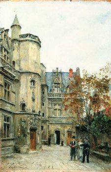 Reprodução do quadro  The Courtyard of the Museum of Cluny, c.1878-80