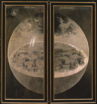 Reprodução do quadro  The Creation of the World from 'The Garden of Earthly Delights', 1490-1500