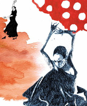 Reprodução do quadro The Dancing Spaniards