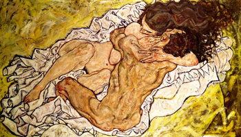 Reprodução do quadro The Embrace, 1917