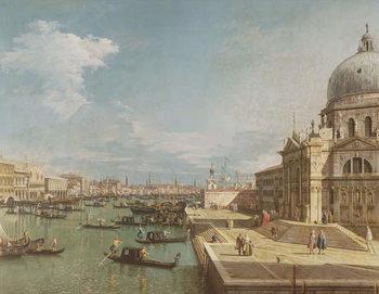 Reprodução do quadro  The Entrance to the Grand Canal and the church of Santa Maria della Salute, Venice