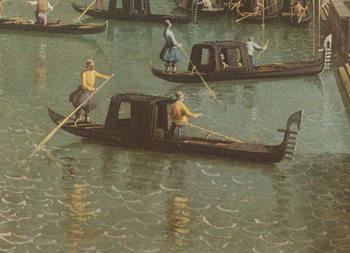 Reprodução do quadro  The Entrance to the Grand Canal and the church of Santa Maria della Salute, Venice (oil on canvas)