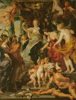 Reprodução do quadro  The Felicity of the Regency, 1621-25