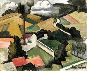 Reprodução do quadro  The Fireplace Factory (Meulan Landscape), 1912