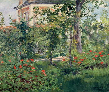 Reprodução do quadro  The Garden at Bellevue, 1880