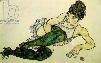 Reprodução do quadro  The Green Stockings, 1917