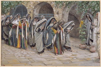 Reprodução do quadro The Holy Women, illustration for 'The Life of Christ', c.1886-94