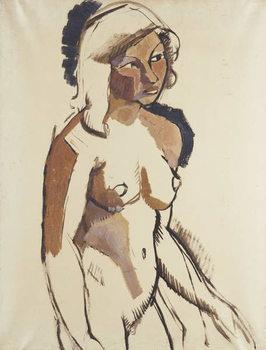 Reprodução do quadro  The Italian Girl, three quarter length, Looking to the Right; L'Italienne, de Trois Quarts Regardant vers la Droite, c.1910-11
