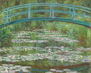 Reprodução do quadro  The Japanese Footbridge, 1899