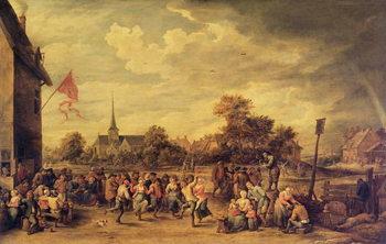 Reprodução do quadro The Kermesse