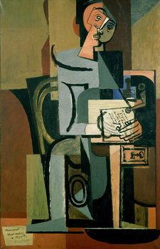 Reprodução do quadro The Letter, 1931