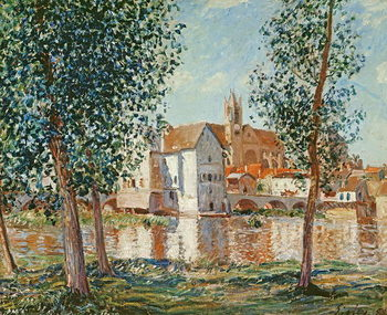 Reprodução do quadro The Loing at Moret, September Morning