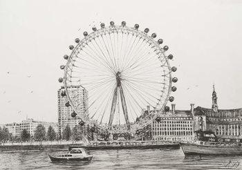 Reprodução do quadro The London Eye, 2006,
