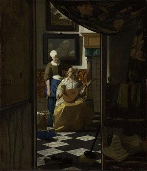 Reprodução do quadro  The Love Letter, c.1669-70
