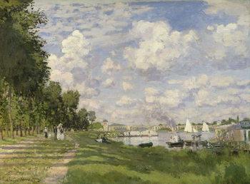 Reprodução do quadro  The Marina at Argenteuil, 1872