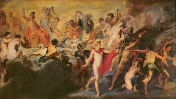 Reprodução do quadro  The Medici Cycle: Council of the Gods for the Spanish Marriage, 1621-25