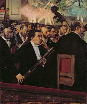 Reprodução do quadro  The Opera Orchestra, c.1870