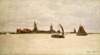 Reprodução do quadro  The Outer Harbour at Zaandam, 1871