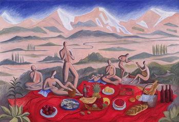 Reprodução do quadro The Picnic, 1992