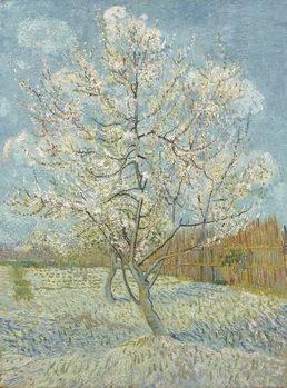 Reprodução do quadro  The Pink Peach Tree, 1888