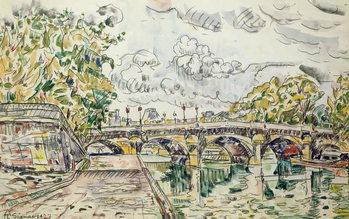 Reprodução do quadro The Pont Neuf, Paris, 1927