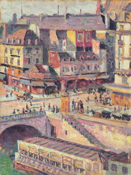 Reprodução do quadro  The Pont Saint-Michel and the Quai des Orfevres, Paris, c.1900-03