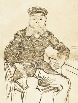 Reprodução do quadro The Postman Joseph Roulin, 1888