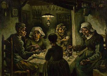 Reprodução do quadro The Potato Eaters, 1885