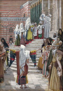 Reprodução do quadro  The Presentation of Christ in the Temple, illustration for 'The Life of Christ', c.1886-94