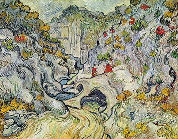 Reprodução do quadro  The ravine of the Peyroulets, 1889