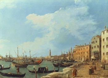 Reprodução do quadro  The Riva Degli Schiavoni, 1724-30
