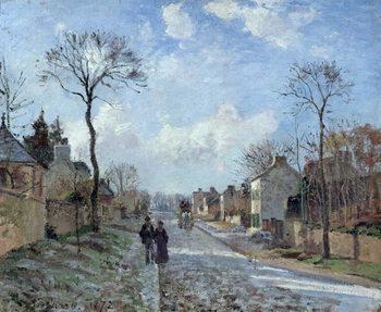 Reprodução do quadro  The Road to Louveciennes, 1872