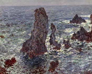 Reprodução do quadro  The Rocks at Belle-Ile, 1886