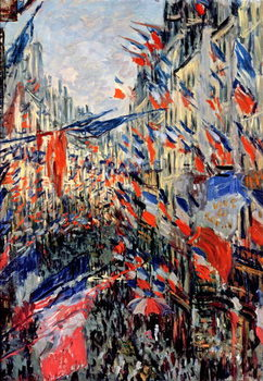 Reprodução do quadro  The Rue Saint-Denis, Celebration of June 30, 1878
