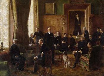 Reprodução do quadro  The Salon of the Countess Potocka, 1887