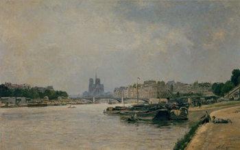 Reprodução do quadro The Seine from the Quai de la Rapee