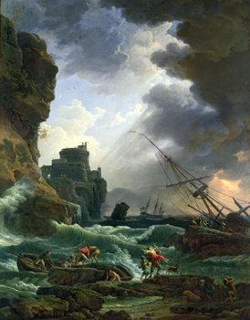 Reprodução do quadro  The Storm, 1777