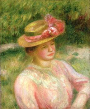 Reprodução do quadro The Straw Hat, 1895