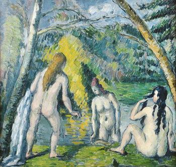 Reprodução do quadro  The Three Bathers, c.1879-82