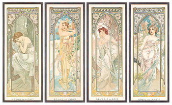 Reprodução do quadro The Times of the Day; Les heures du jour (a set of four), 1899